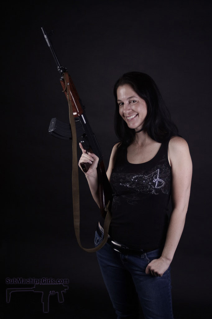 Amy with Czech VZ.58