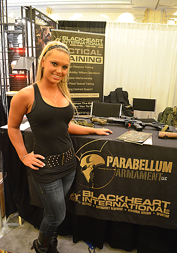 Jamie at the Parabellum Armament booth