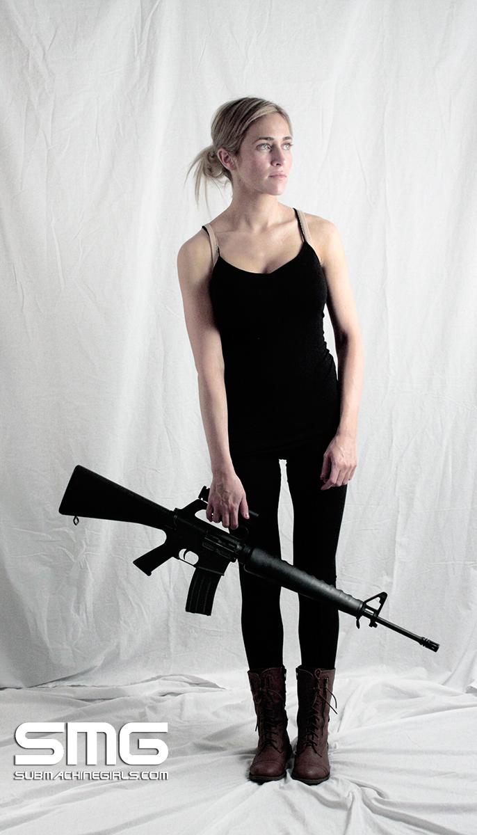 Lindsay with Colt AR15