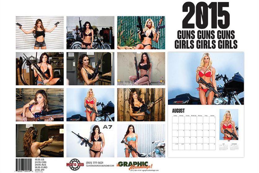 Guns & Girls 2015 Calendar back